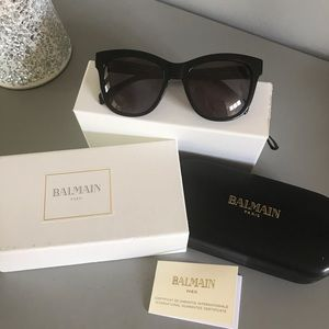 Balmain Black Acetate Sunglasses
